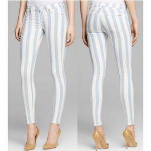 HUDSON Krista Super Skinny Striped Jeans 24